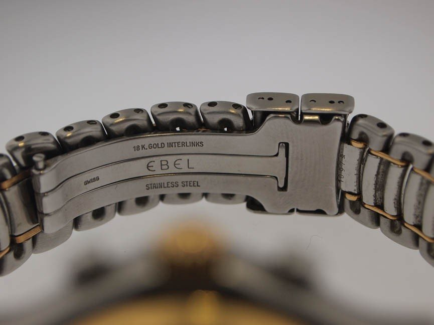 12: Ebel Mens 18k and SS Chronograph. Box/Papers. Skele - 6