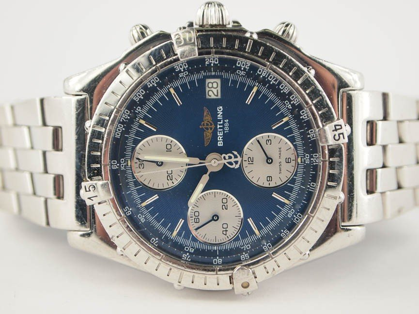 14: Breitling Mens Stainless Steel Chronograph.