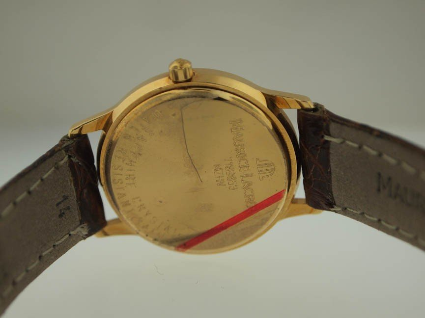 31: Maurice Lacroix Mens 18k Gold Watch. - 3