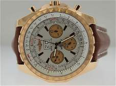 52: Breitling Mens Large 18k Bentley Chronograph. BRAND