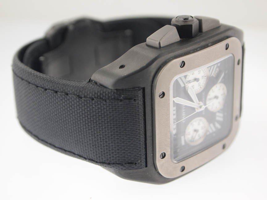 138: Cartier Mens Jumbo Santos 100 Chronograph Titanium - 3