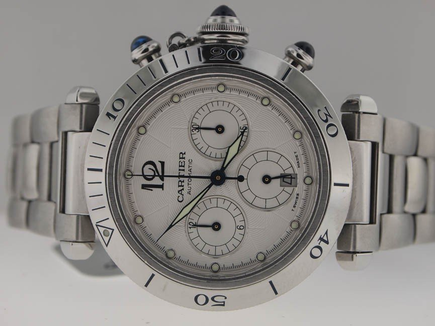 1: Cartier Mens SS Pasha Automatic. Skeleton. $9700.