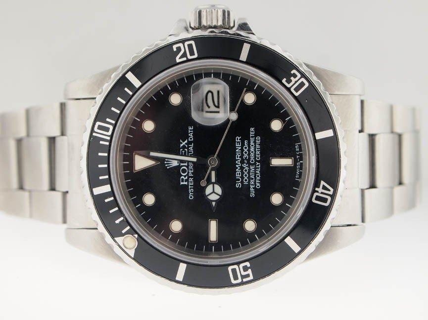 2: Rolex Mens Stainless Steel Submariner. Date.