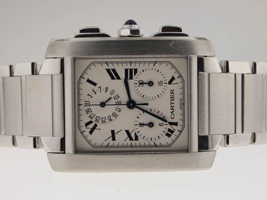 5: Cartier Mens SS Tank Francaise Chronograph.