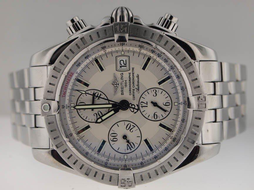 8: Breitling Mens SS Chronomat Evolution. Box/Papers.