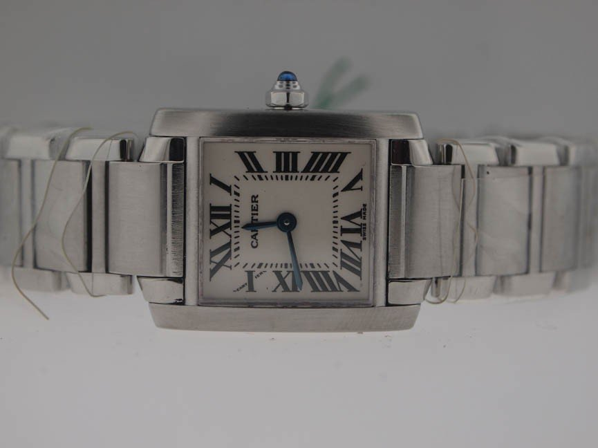 9: Cartier Ladies Stainless Steel Tank Francaise.