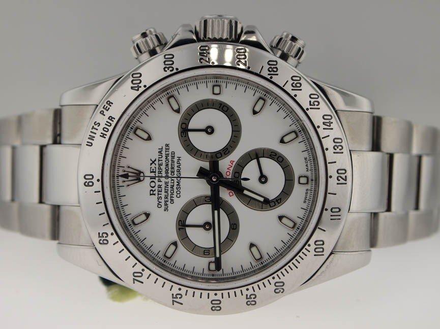 14: Rolex Mens SS Daytona Chronograph. PAPERS. 2006.