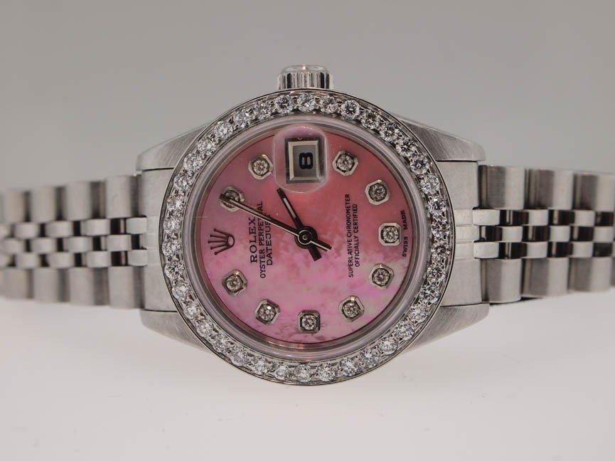 19: Rolex Ladies SS Datejust. Diamond Dial/Bezel.