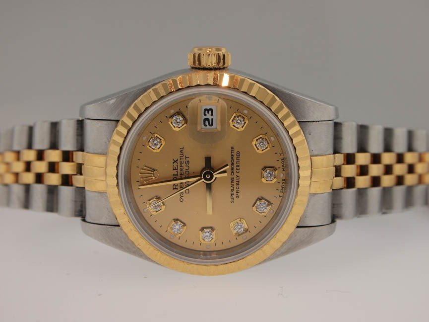 20: Rolex Ladies 18k and SS Datejust. 1998. Dia Dial.