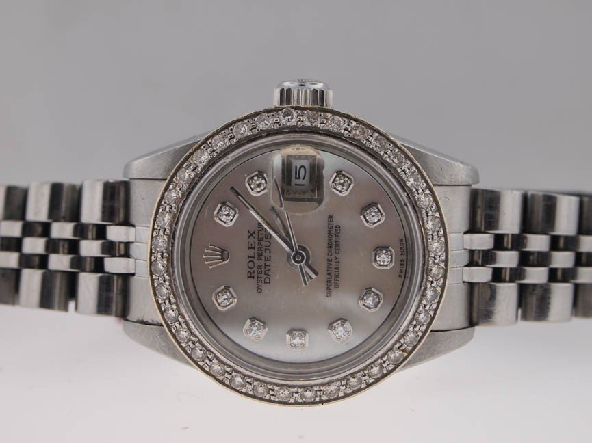 1: Rolex Ladies Stainless Steel Datejust. Diamond Dial/