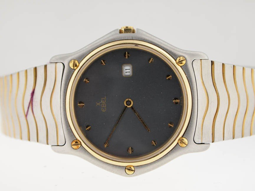 4: Ebel Mens 18k and SS Wave. Date.