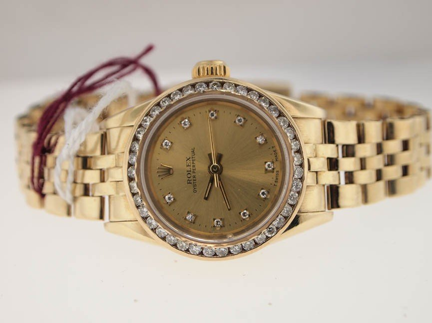 7: Rolex Ladies 18k Datejust. Diamond Dial/Bezel.