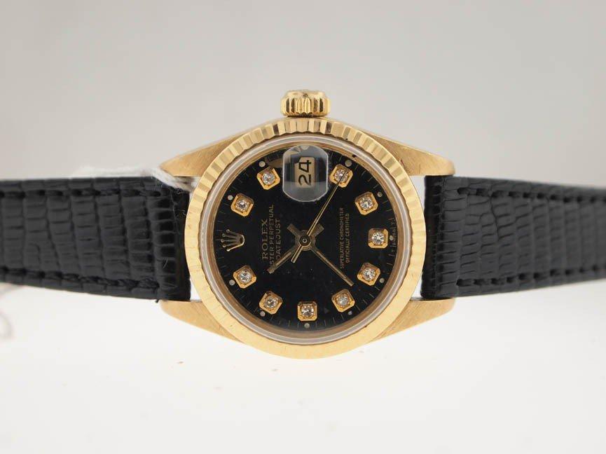 8: Rolex Ladies 18k Datejust. Quickset. Diamond Dial.