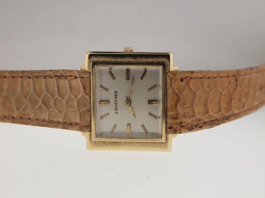 12: Longines Ladies 14k Gold Vintage Watch.