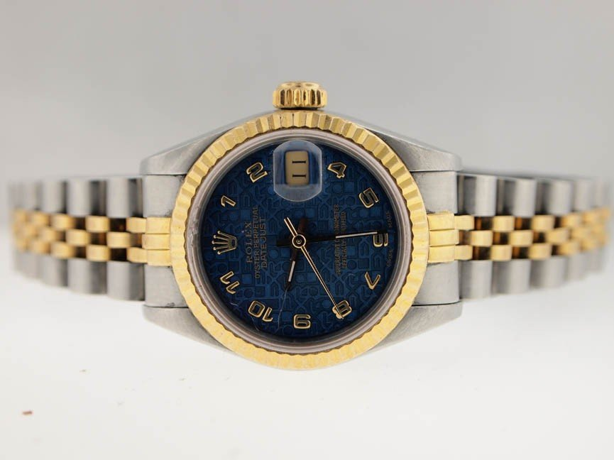 14: Rolex Ladies 18k and SS Datejust. 1988. Arabic Dial