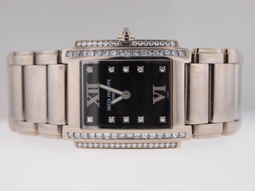 17: Patek Philippe Ladies 18k WG Twenty-4. Diamonds.