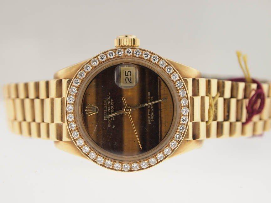 18: Rolex Ladies 18k President. Rare Original Dial.