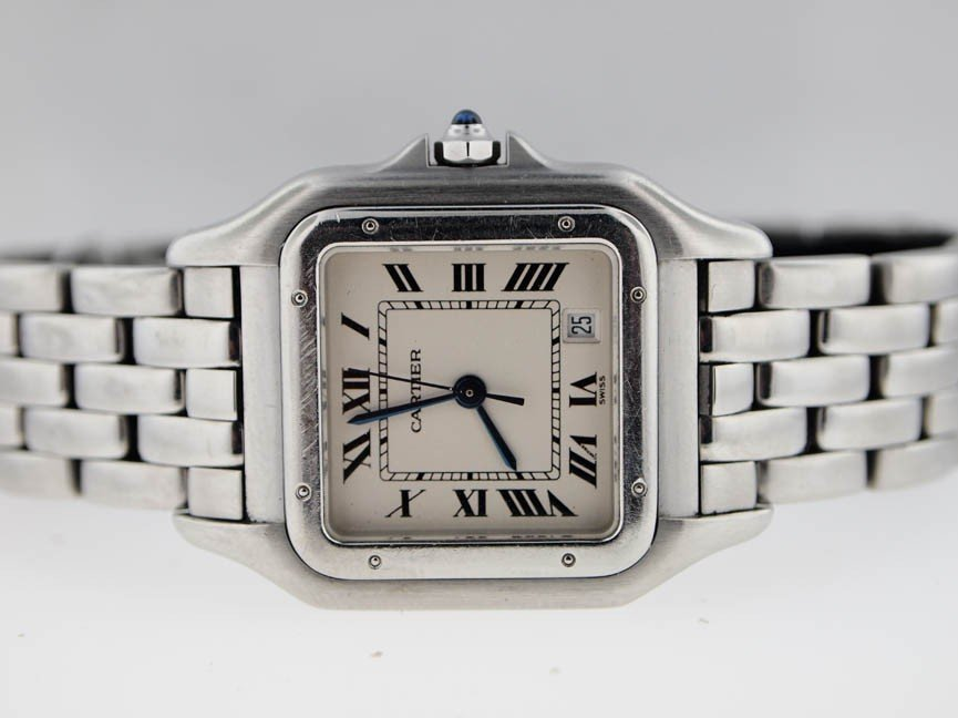 19: Cartier Midsize Stainless Steel Panthere.