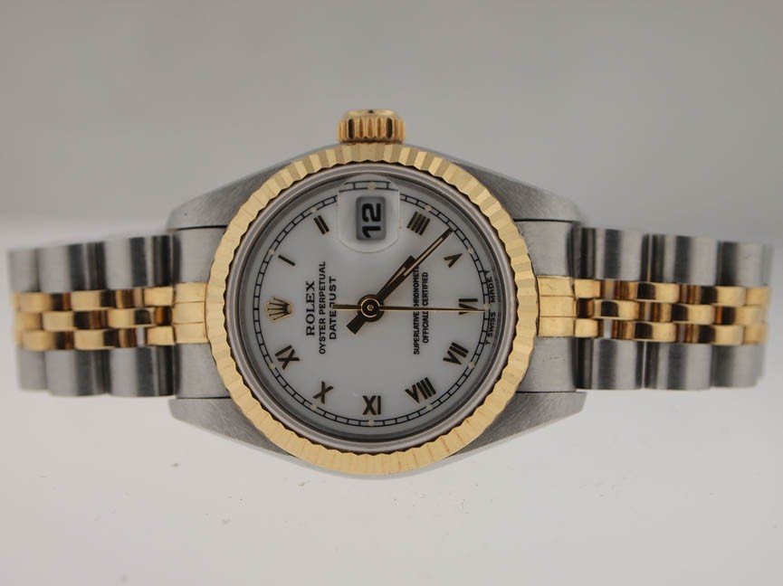 20: Rolex Ladies 18k and SS Datejust. 1993. Roman Dial.