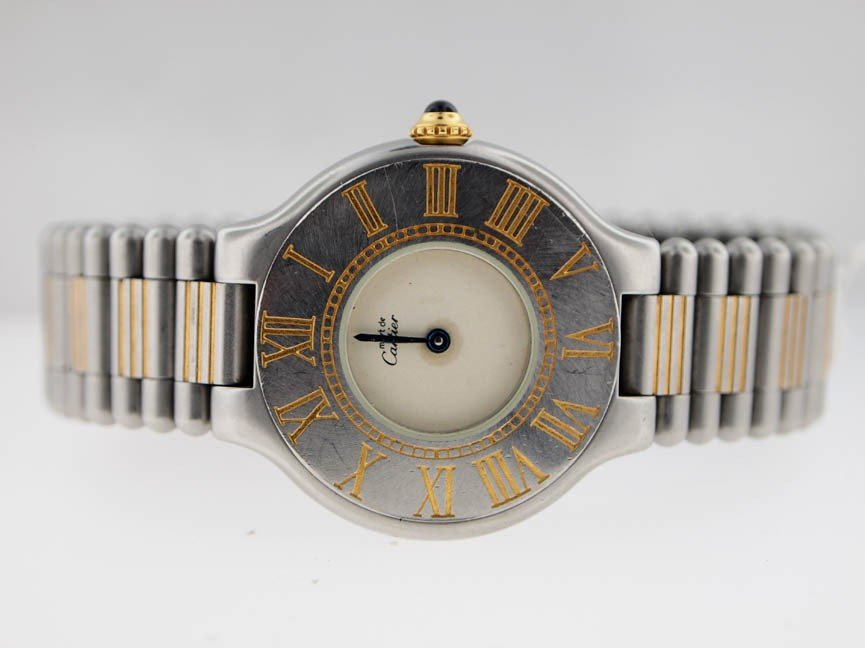 8: Cartier Ladies Stainless Steel 21 Watch.