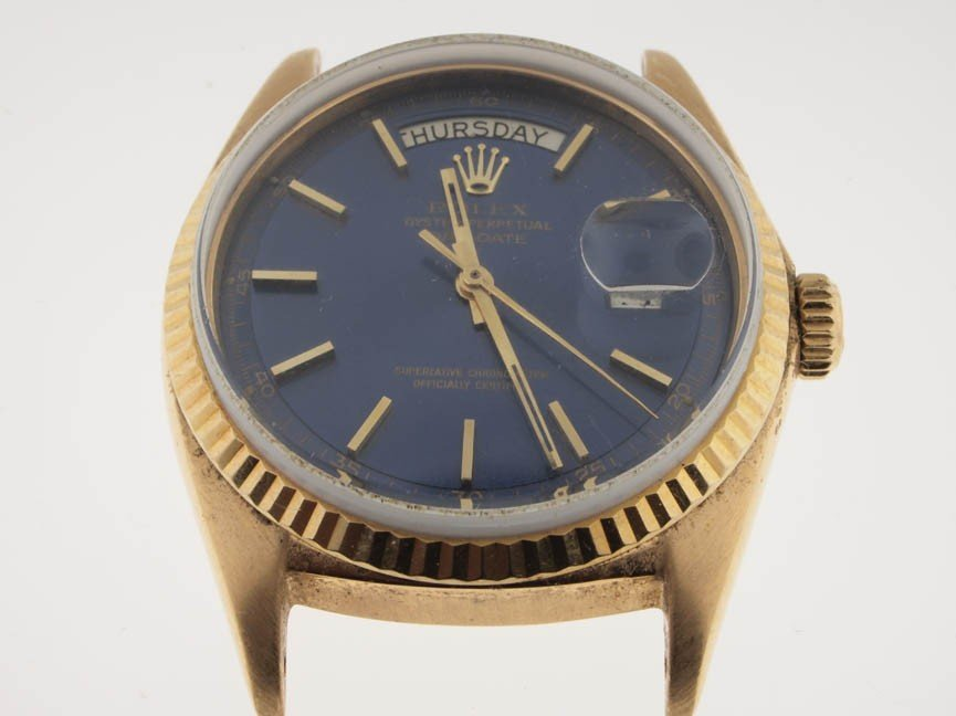 16: Rolex Mens 18k Gold President Head.