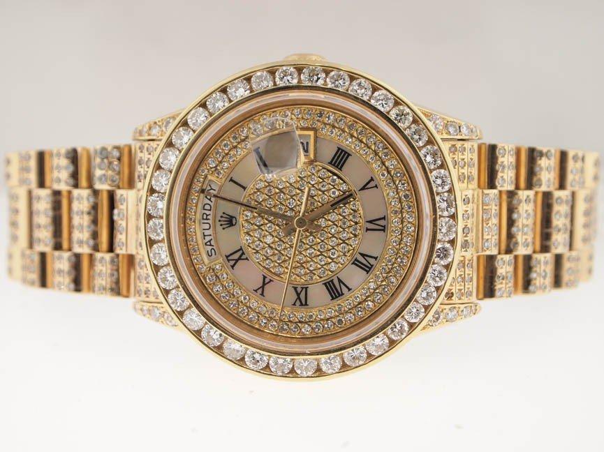 38: Rolex Mens 18k President. Super President Diamonds. - 2