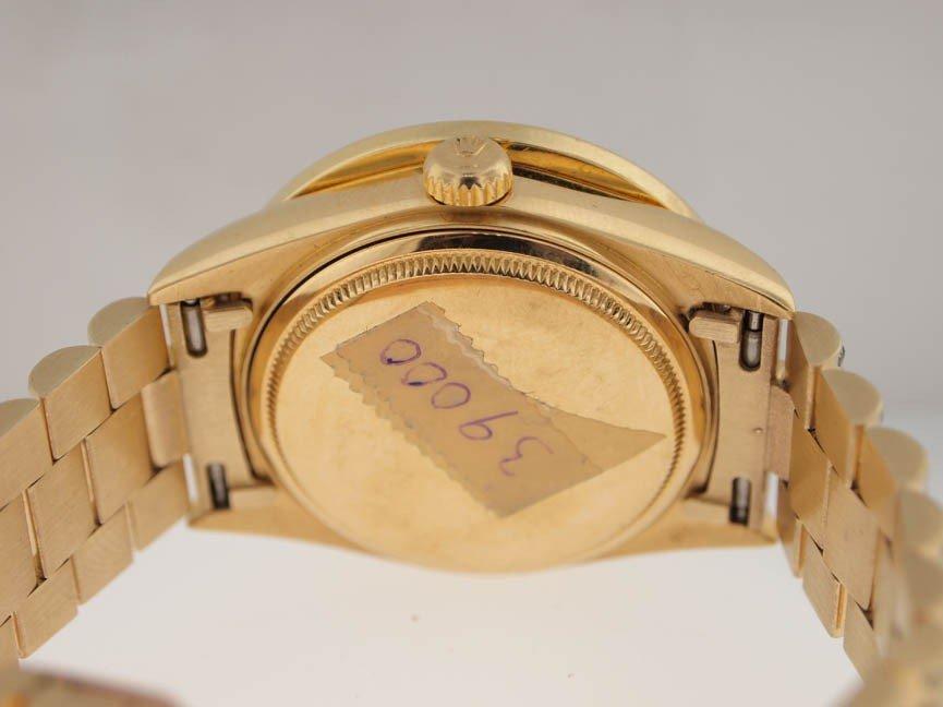 38: Rolex Mens 18k President. Super President Diamonds. - 4