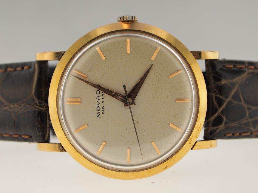 1: Movado Mens 18k Gold Vintage Dress Watch. Circa 1940