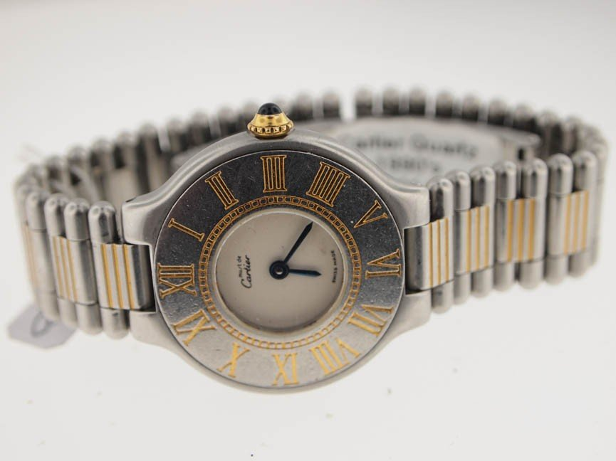 2: Cartier Midsize Two-Tone 21. Discontinued Model.