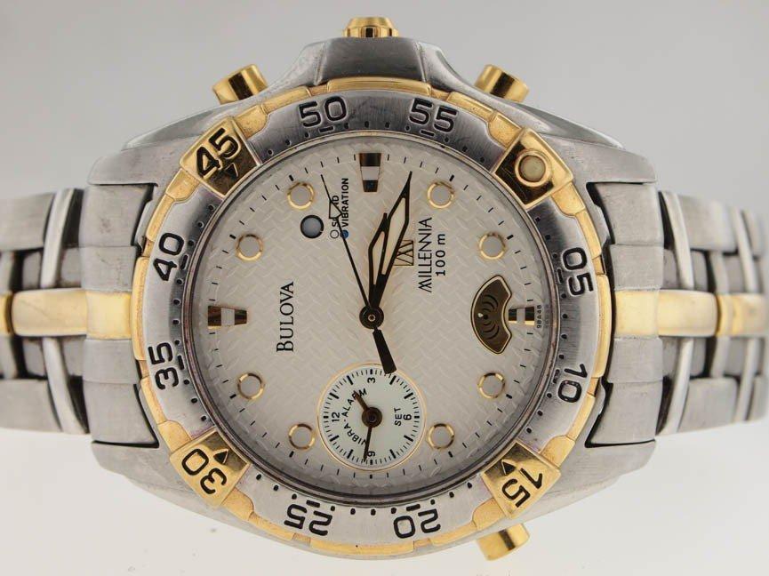 3: Bulova Mens SS Millennia Alarm Watch.