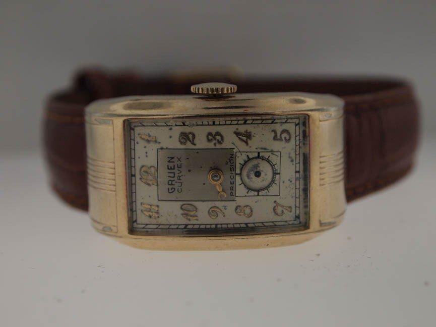 6: Gruen Ladies Curvex Driving Watch. Gold Filled.