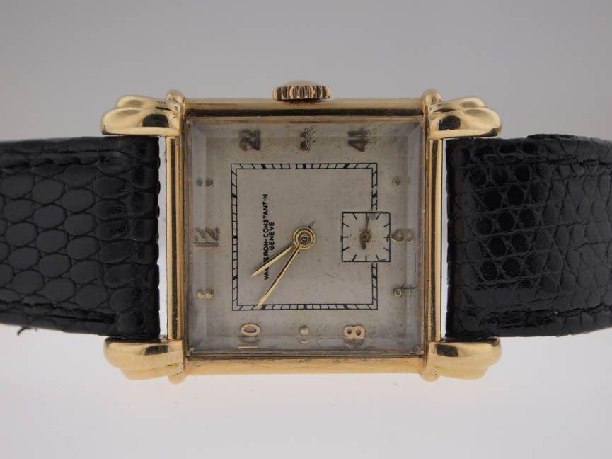 9: Vacheron & Constantin Mens 18k Rare Vintage Watch.