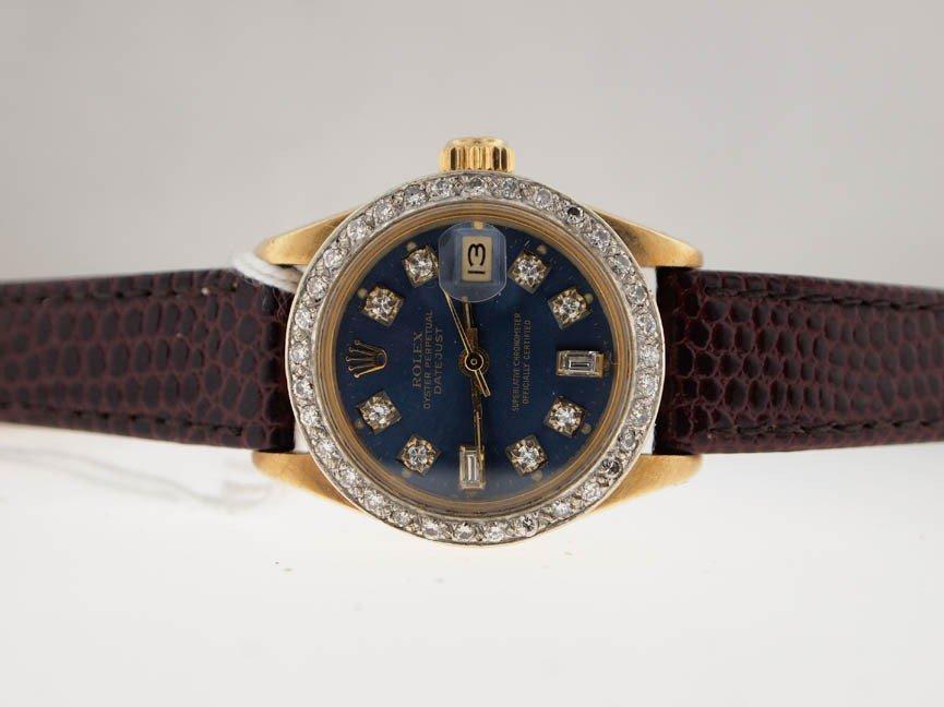 18: Rolex Ladies 18k Gold Datejust. Diamond Dial/Bezel.