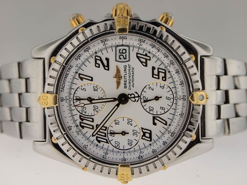 24: Breitling Mens 18k and SS Chronomat. Automatic.