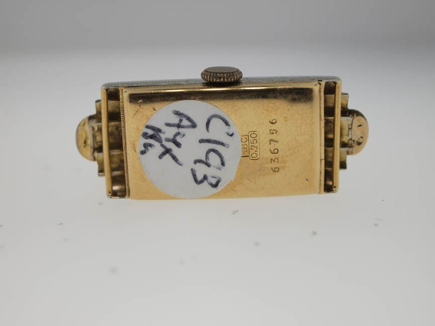 183: Marvin Ladies 18k Gold Antique Watch. Two Color. - 3