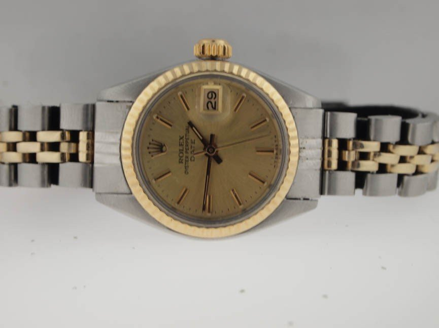 6: Rolex Ladies 18k and SS Datejust. Jubilee.