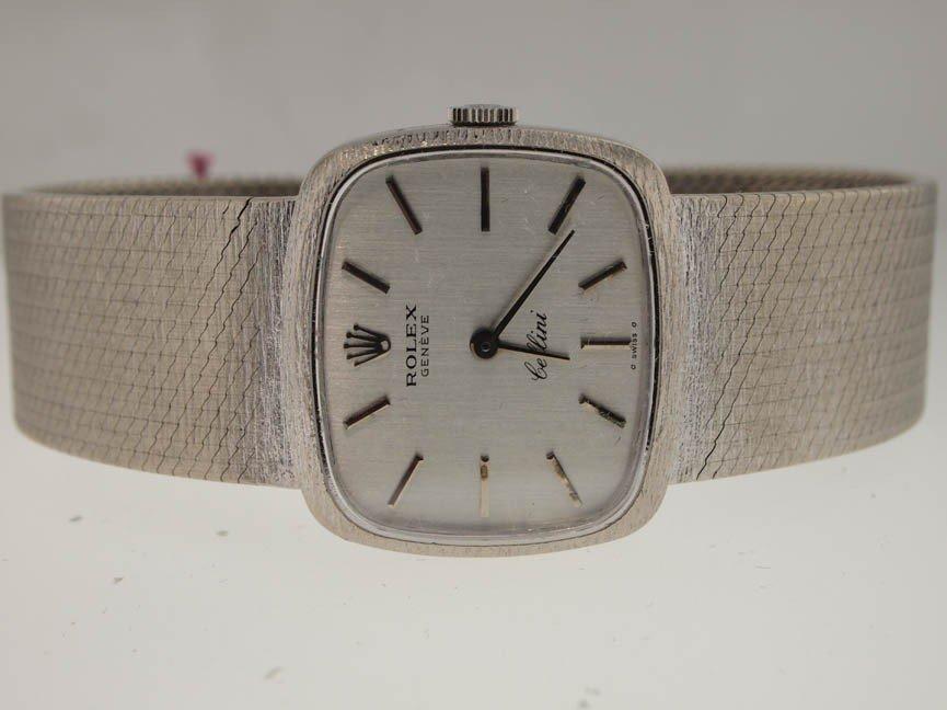 10: Rolex Midsize 18k White Gold Cellini Dress Watch.
