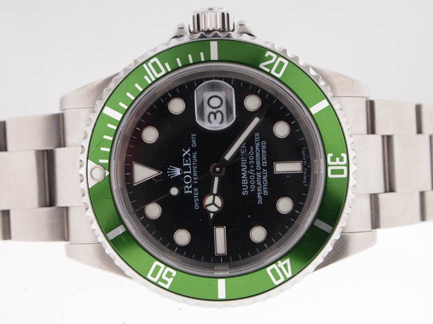 74: Rolex Mens SS Submariner 50th Anniverary. PAPERS.