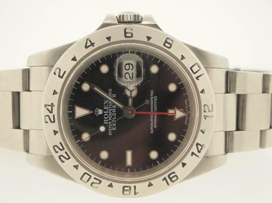 5: Rolex Mens SS Explorer II. Circa 90s.
