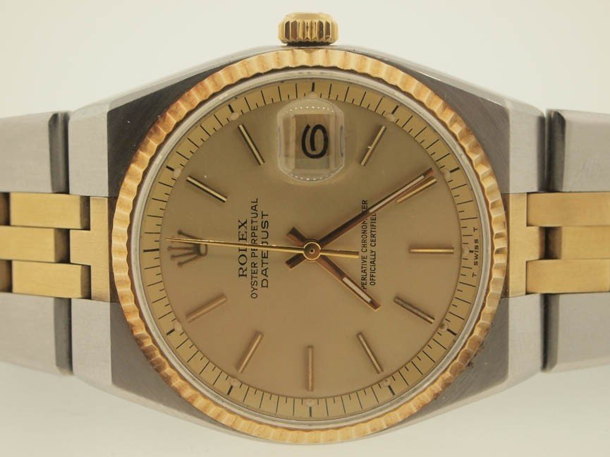 8: Rolex Mens 18k and SS RARE Datejust. AUTOMATIC.