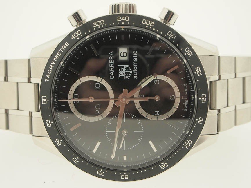 11: Tag Heuer Mens SS Carrera Chronograph. 4k Retail.