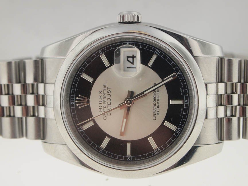 16: Rolex Mens SS Datejust Quickset. Circa 2007.