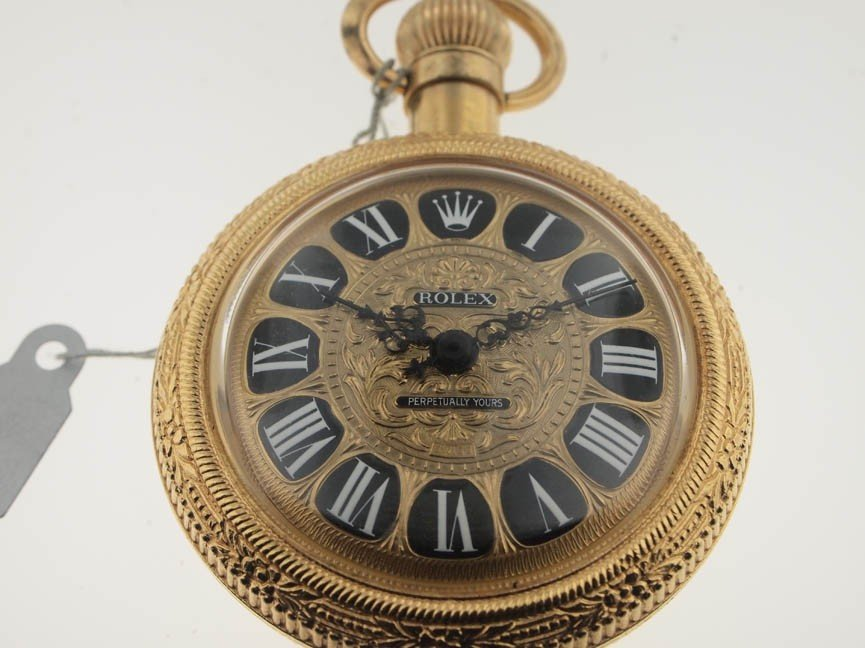 """21: Rolex Vintage """"Perpetually Yours"""" Perfume Decanter."""