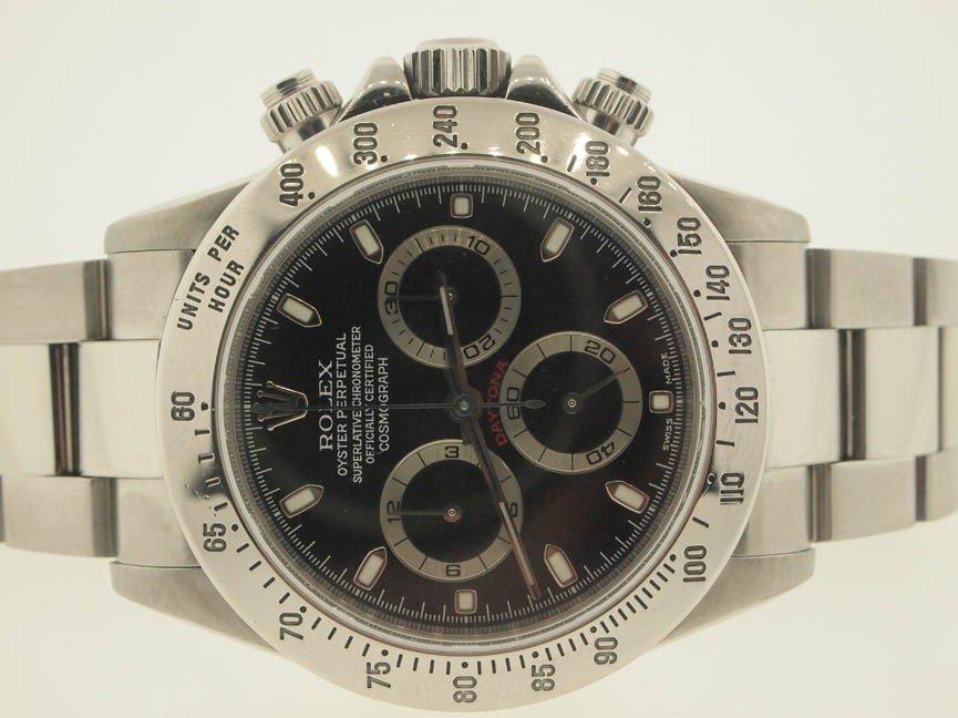 95: Rolex Mens Stainless Steel Daytona. Circa 2001.