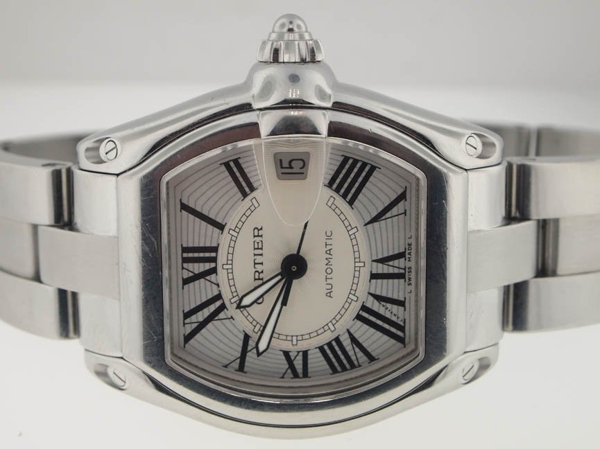 2: Cartier Mens SS Roadster Automatic.