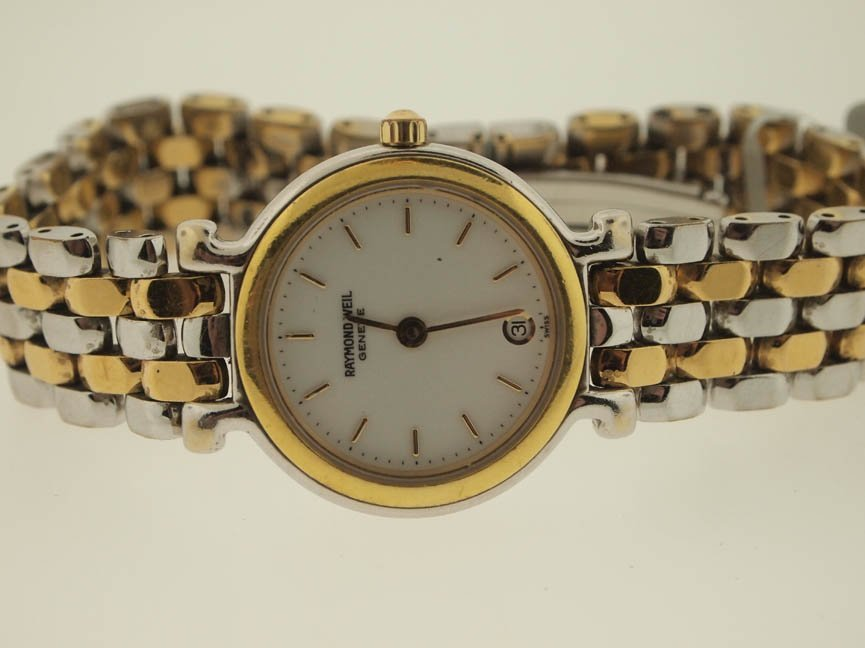 18: Raymond Weil Ladies Two Tone Watch.