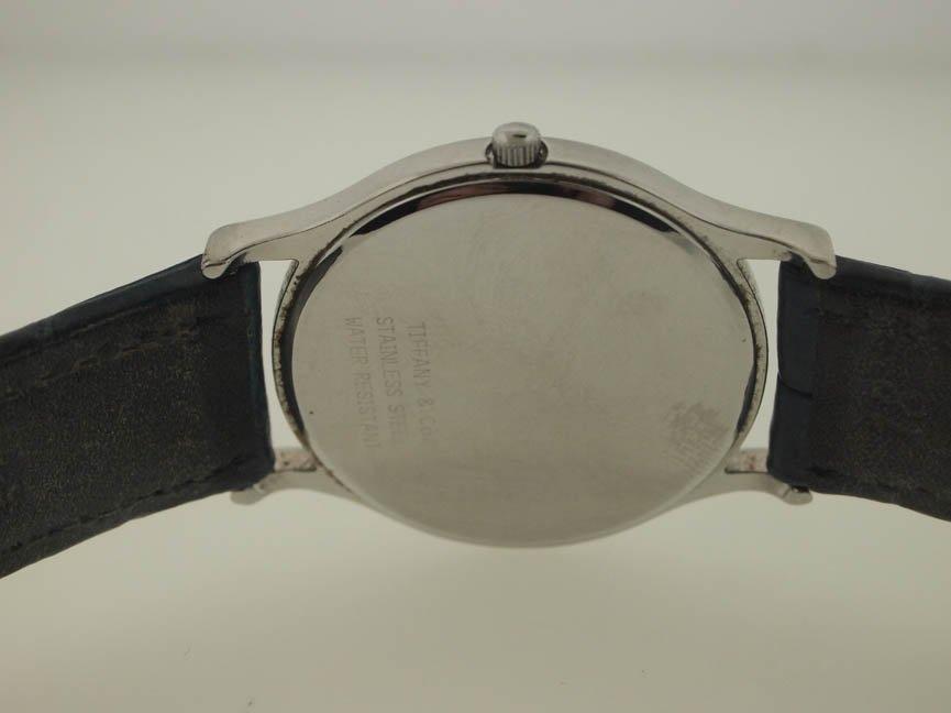 82: Tiffany & Co Mens SS Roman Numeral Watch. - 3