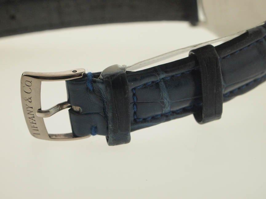 82: Tiffany & Co Mens SS Roman Numeral Watch. - 4