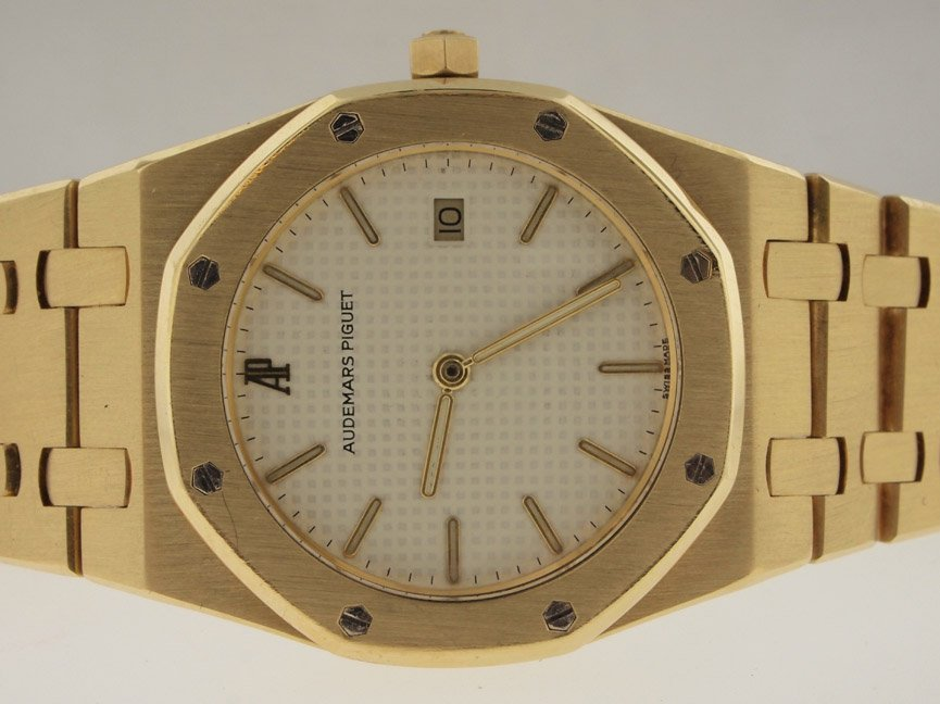 5: Audemars Piguet Mens 18k Royal Oak. $33k List.