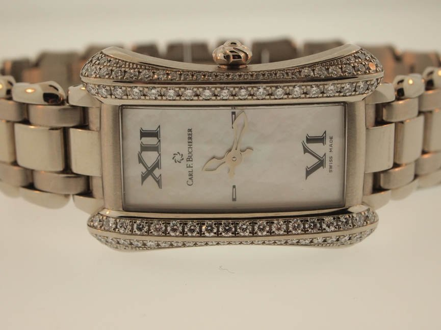 59: Carl F Bucherer 18k WG Alacria. Diamonds.